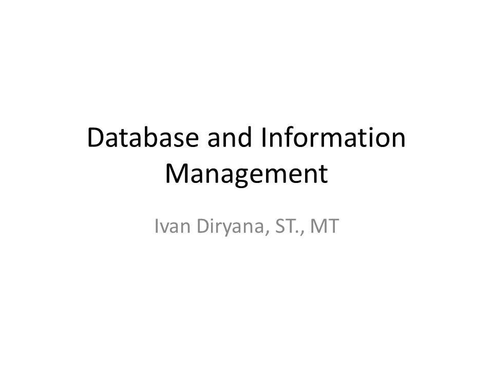 Operations of a Relational DBMS