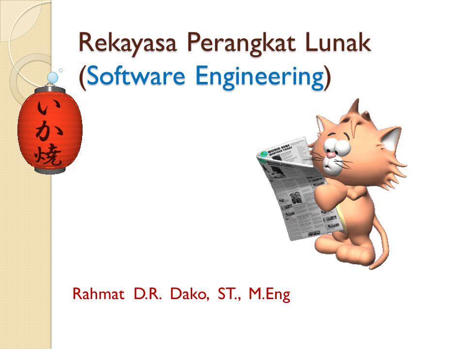 CATATAN  Tujuan pokok dari software engineering adalah membuat pengembangan perangkat lunak lebih dekat ke sains dan jauh dari suatu karya seni  Tujuan Dasar dari suatu software engineering adalah untuk menghasilkan suatu perangkat lunak berkualitas, tepat waktu dan ekonomis.