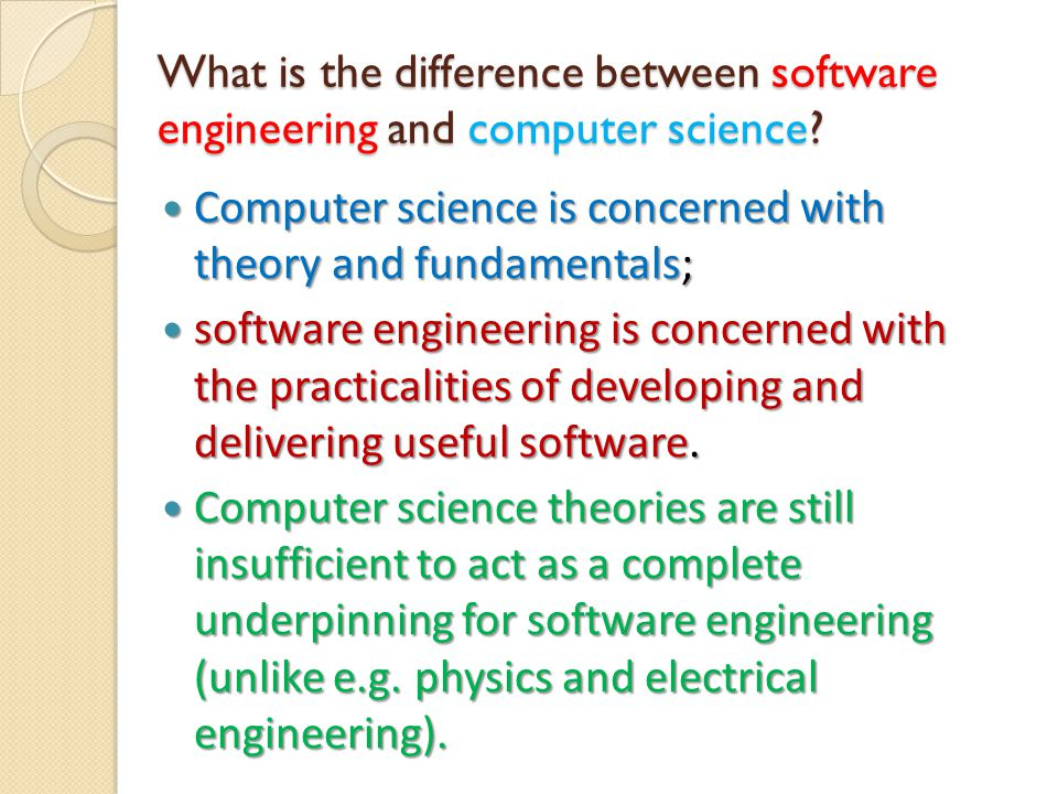 What is the difference between software engineering and system engineering.
