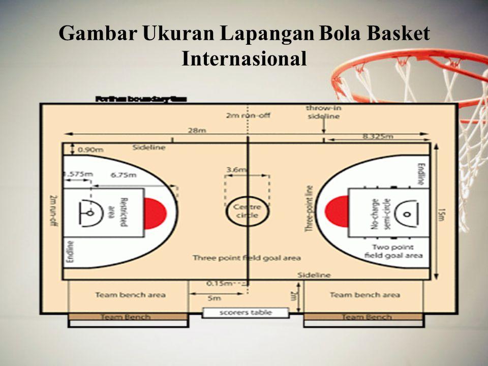 Gambar Ukuran Lapangan Bola Basket Internasional
