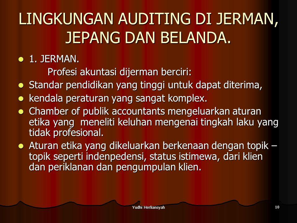 Yudhi Herliansyah 10 LINGKUNGAN AUDITING DI JERMAN, JEPANG DAN BELANDA.