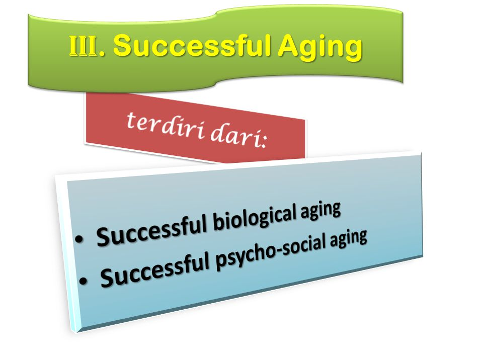 III. Successful Aging