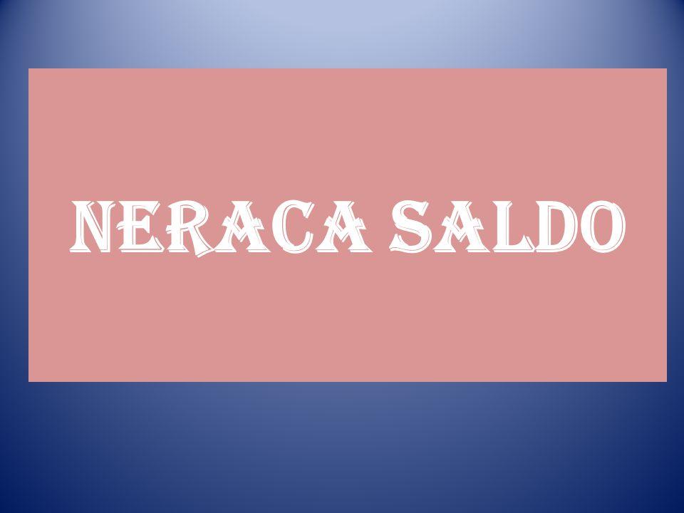 NERACA SALDO