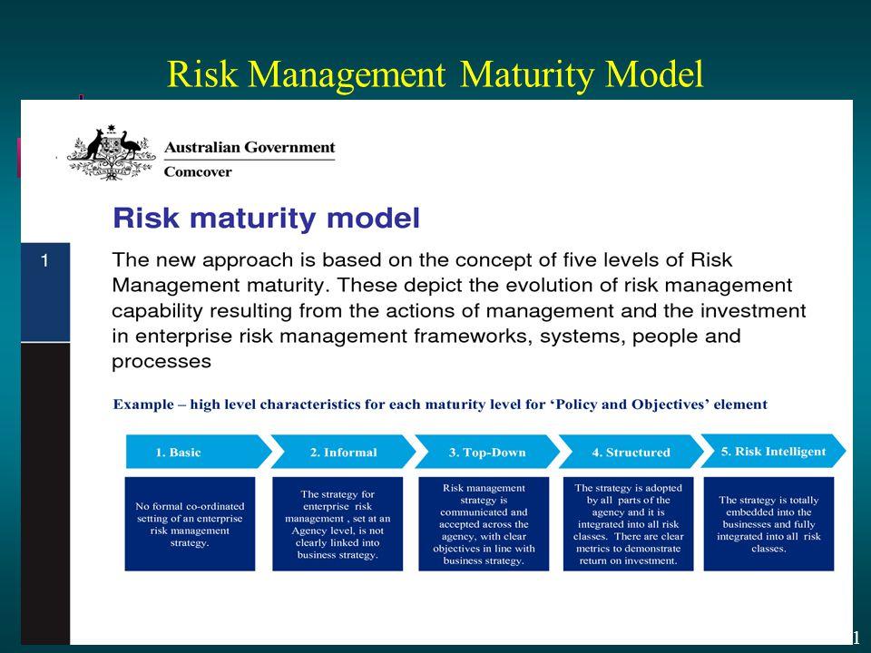 13 - 31 Risk Management Maturity Model