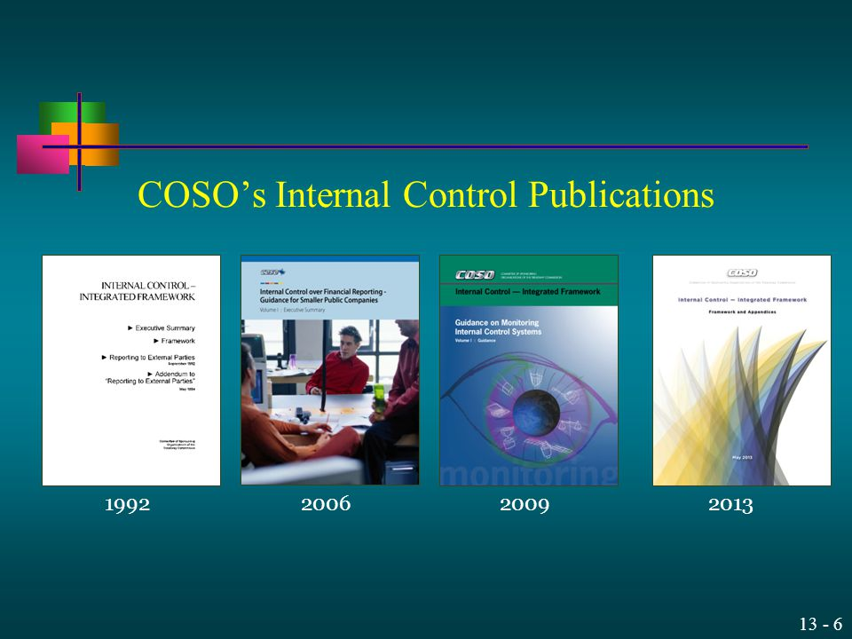 13 - 6 COSO's Internal Control Publications 1992200620092013