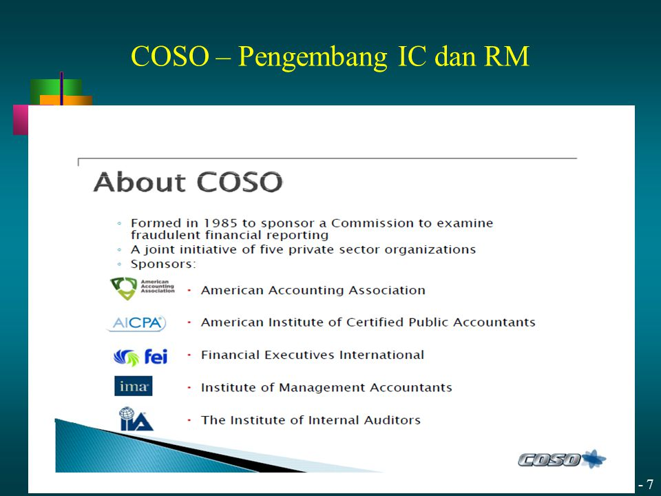 13 - 8 Original Framework COSO's Internal Control–Integrated Framework (1992 Edition) Refresh Objectives Updated Framework COSO's Internal Control–Integrated Framework (2013 Edition) Broadens ApplicationClarifies Requirements Articulate principles to facilitate effective internal control Why update what works – The Framework has become the most widely adopted control framework worldwide.