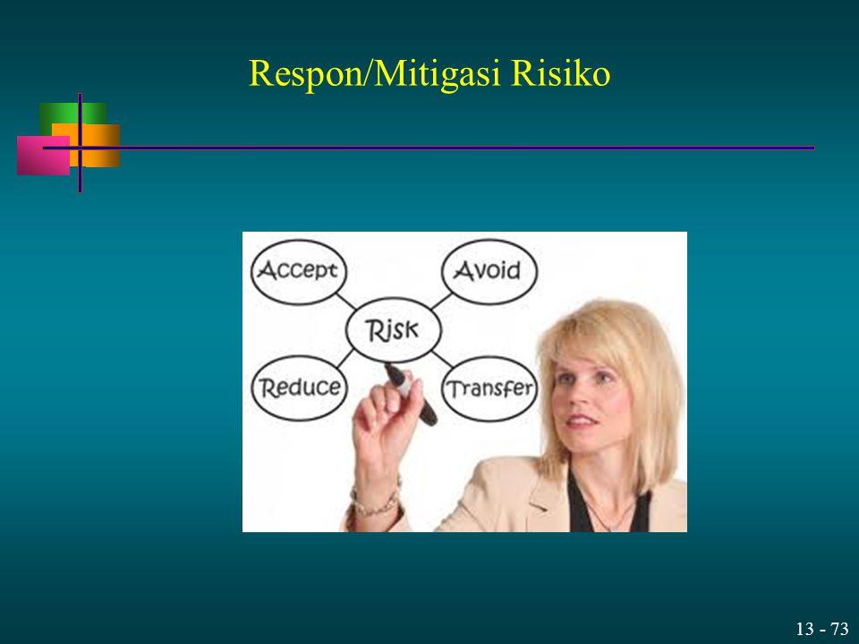 13 - 73 Respon/Mitigasi Risiko