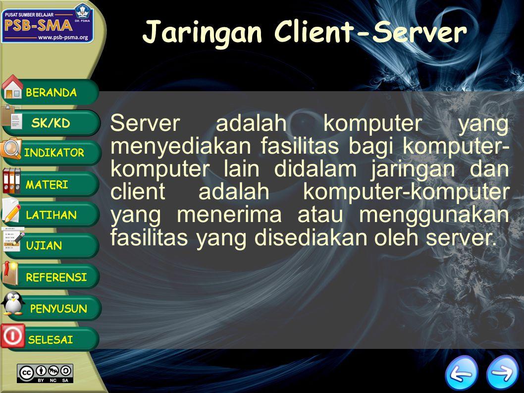 LAN mempunyai sistem jaringan yang dibedakan menjadi dua berdasarkan tipe administrasi, yaitu client-server dan peer to peer.