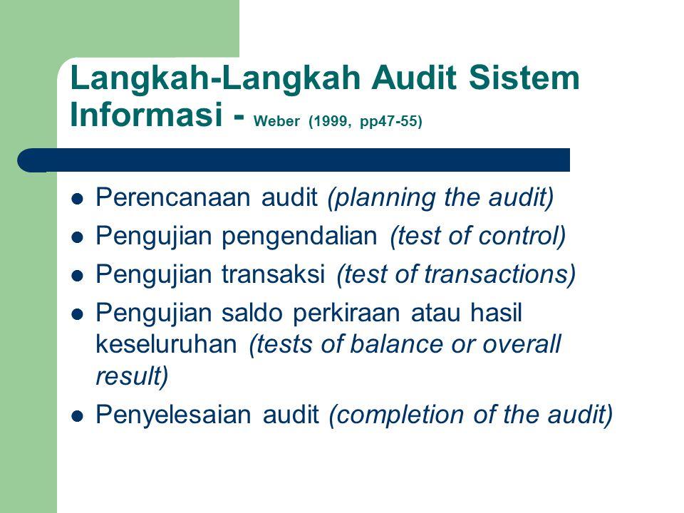 Perencanaan Audit Perencanaan audit merupakan tahap pertama dalam pemeriksaan audit.