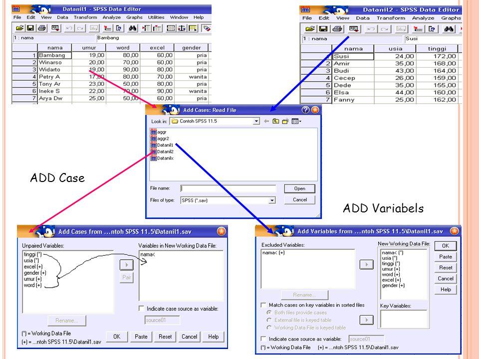 ADD Case ADD Variabels