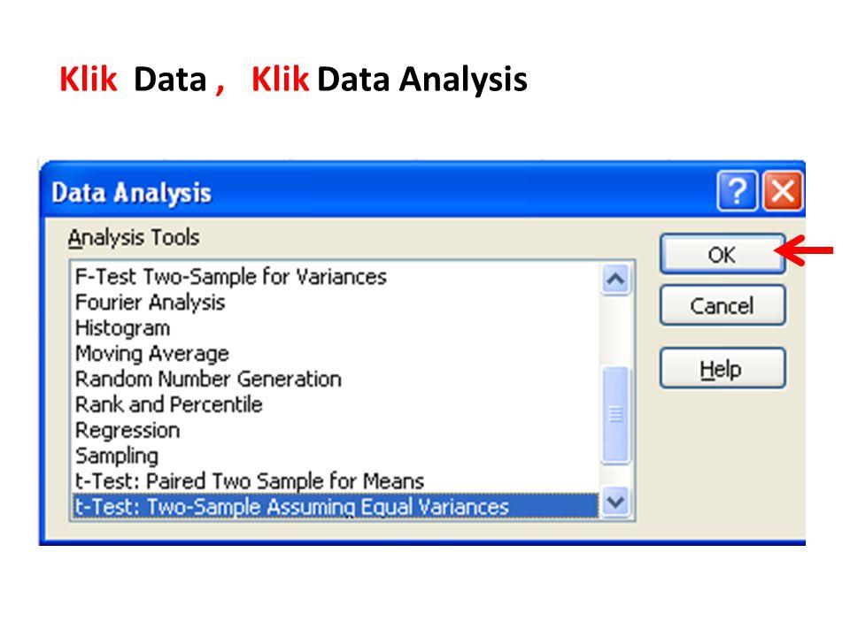 Klik Data, Klik Data Analysis