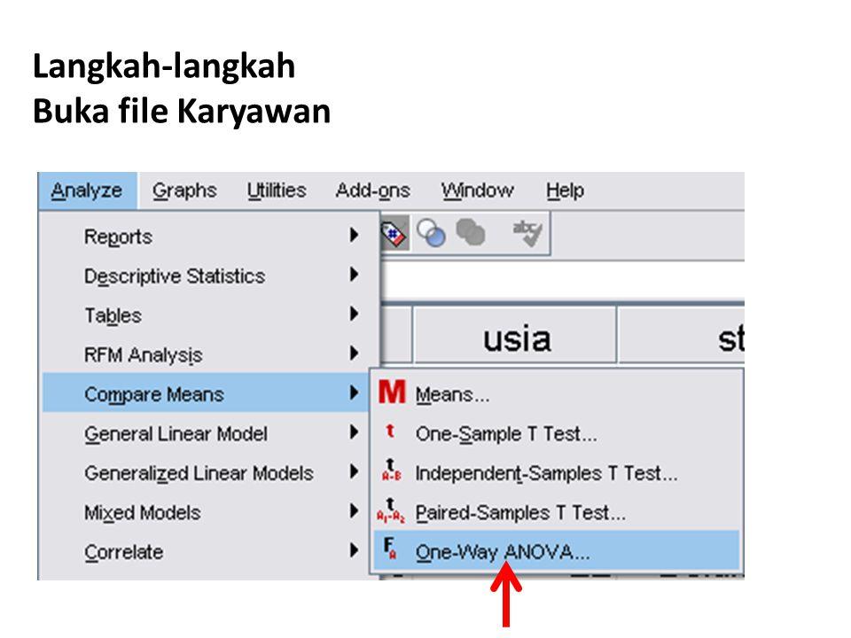 Langkah-langkah Buka file Karyawan