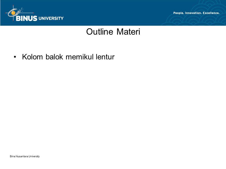 Bina Nusantara University KOLOM / BEAM COLUMN 12.01.