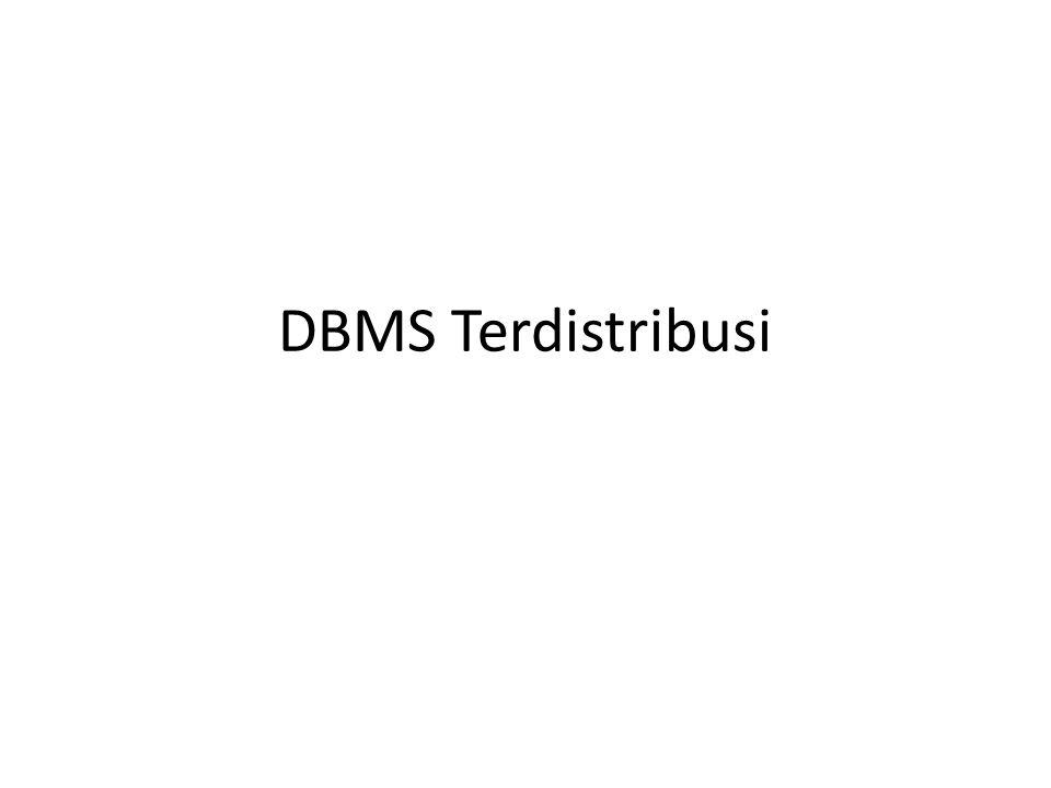 DBMS Terdistribusi
