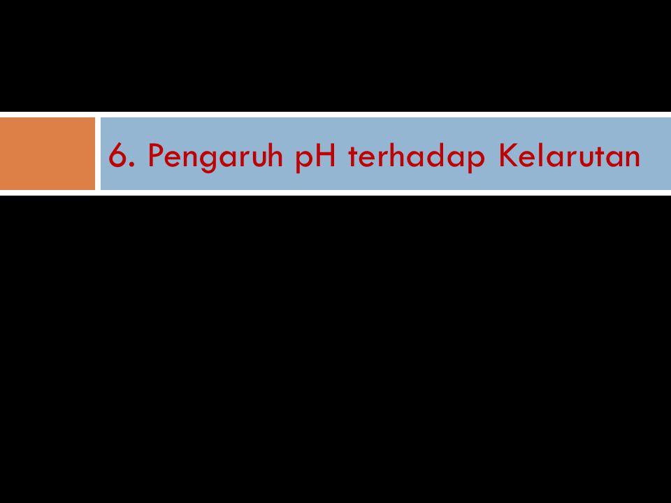 6. Pengaruh pH terhadap Kelarutan