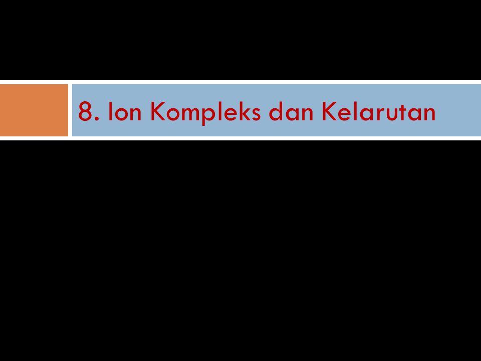 8. Ion Kompleks dan Kelarutan