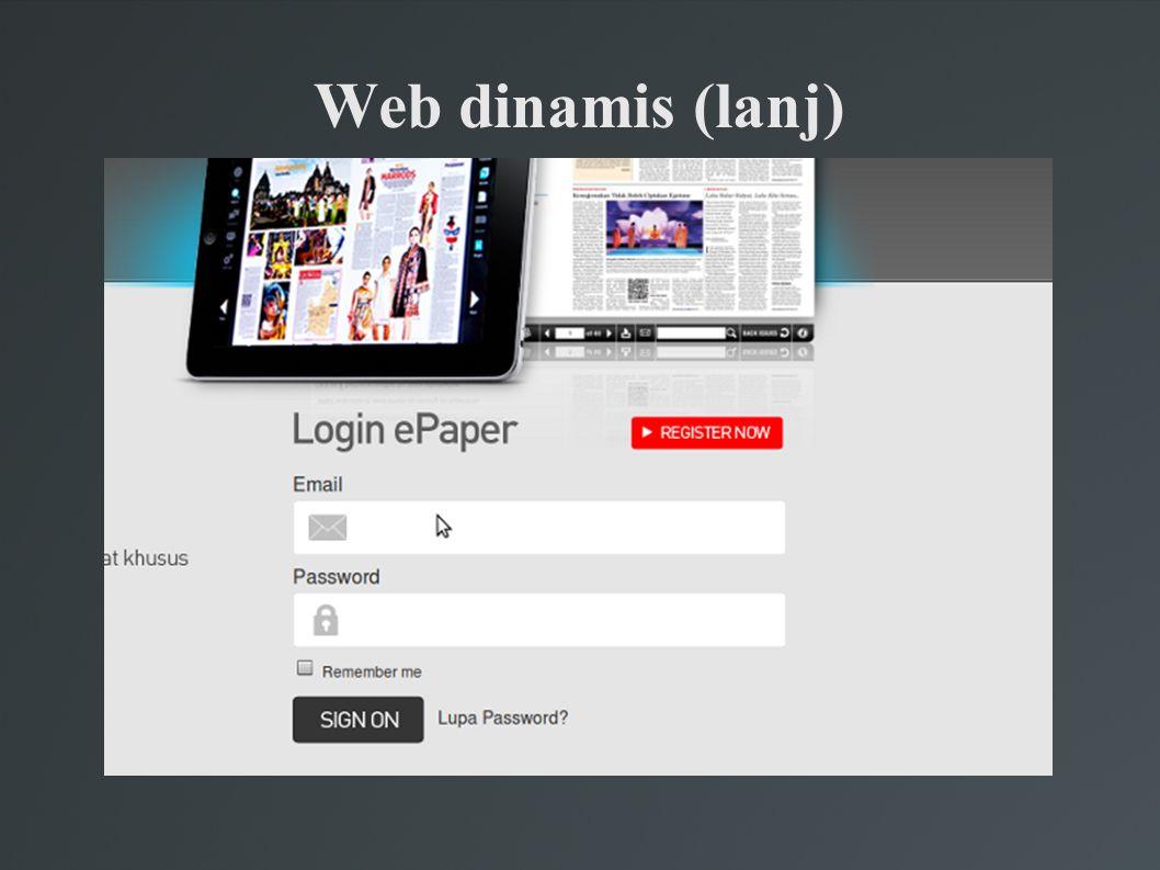 Web dinamis (lanj)