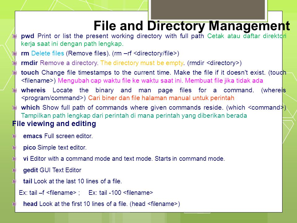 File and Directory Management File compression, backing up and restoring compress Compress data.