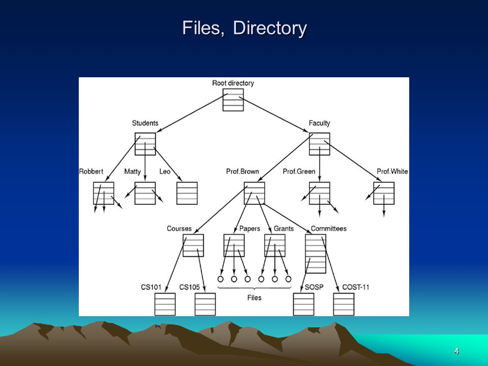 4 Files, Directory