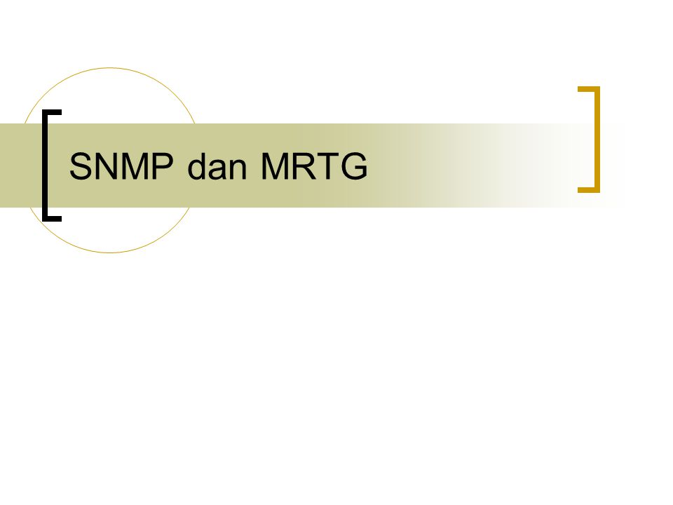 SNMP dan MRTG