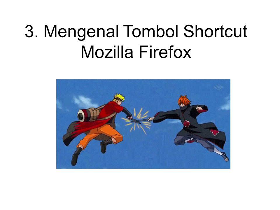 3. Mengenal Tombol Shortcut Mozilla Firefox
