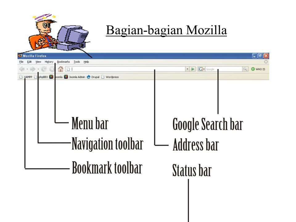 KETERANGAN: 1.Title Bar/Baris Judul:bagian paling atas tempat judul alamat yang sedang dibuka pada Mozilla Firefox.