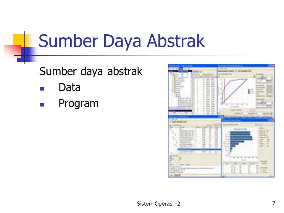 Sistem Operasi -27 Sumber Daya Abstrak Sumber daya abstrak Data Program