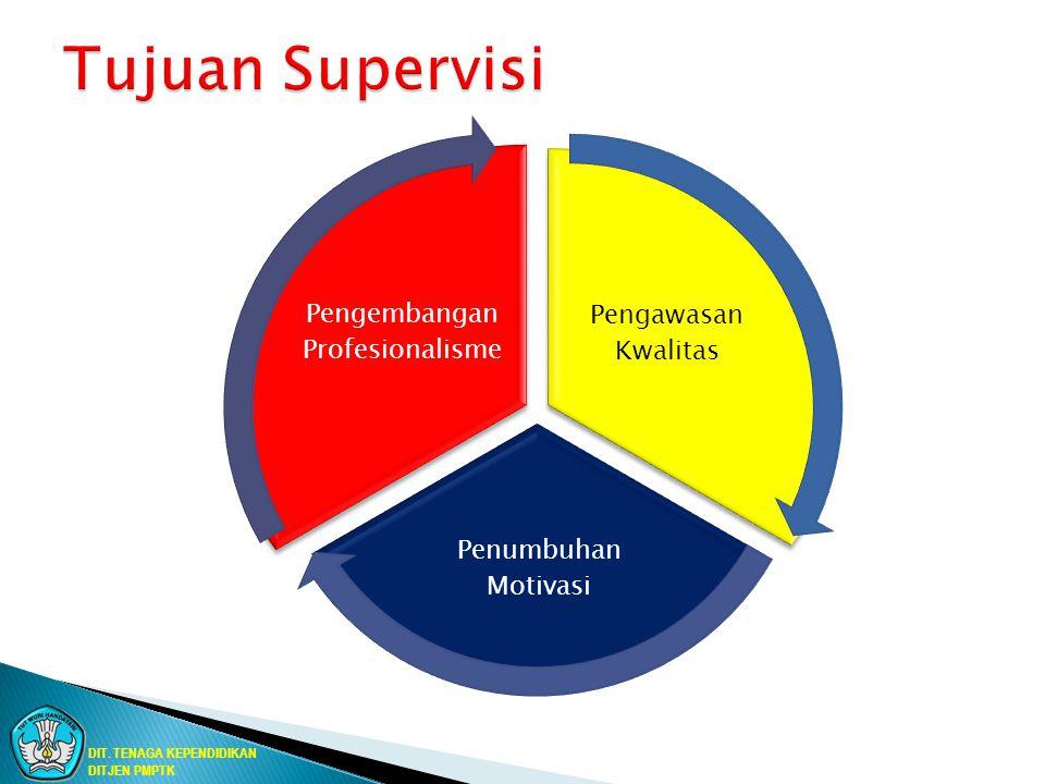 Pengawasan Kwalitas Penumbuhan Motivasi Pengembangan Profesionalisme DIT. TENAGA KEPENDIDIKAN DITJEN PMPTK