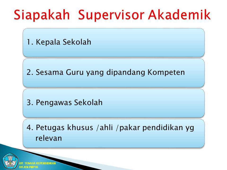 1. Kepala Sekolah2. Sesama Guru yang dipandang Kompeten3. Pengawas Sekolah 4. Petugas khusus /ahli /pakar pendidikan yg relevan DIT. TENAGA KEPENDIDIK