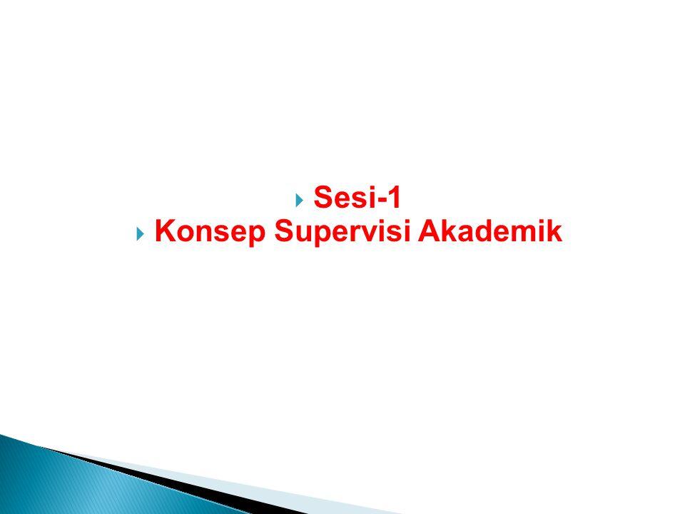  Sesi-1  Konsep Supervisi Akademik