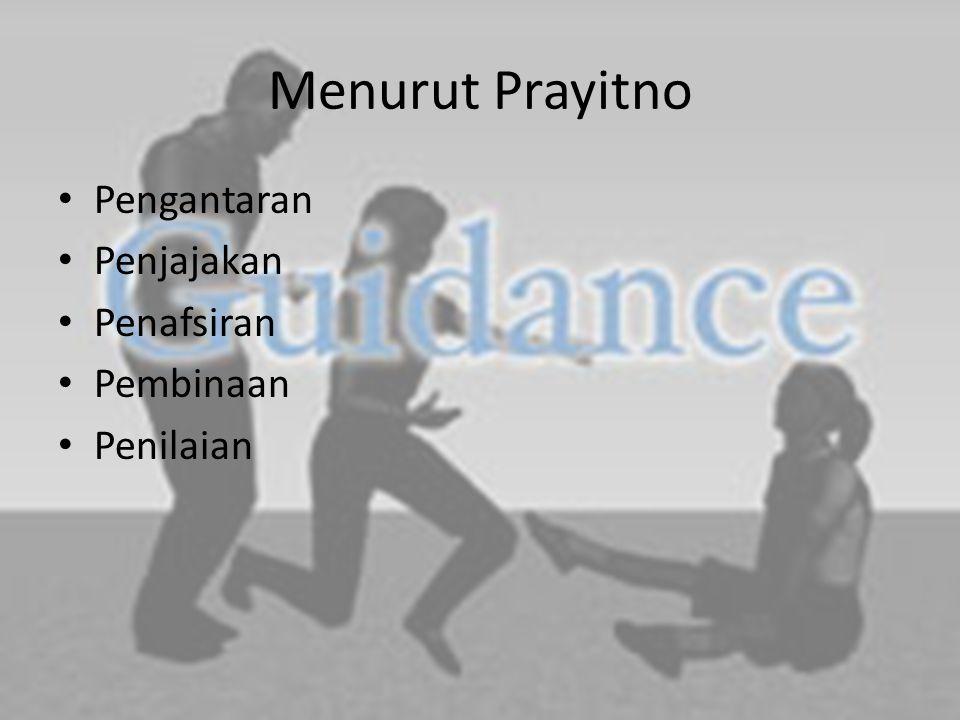 Menurut Prayitno Pengantaran Penjajakan Penafsiran Pembinaan Penilaian