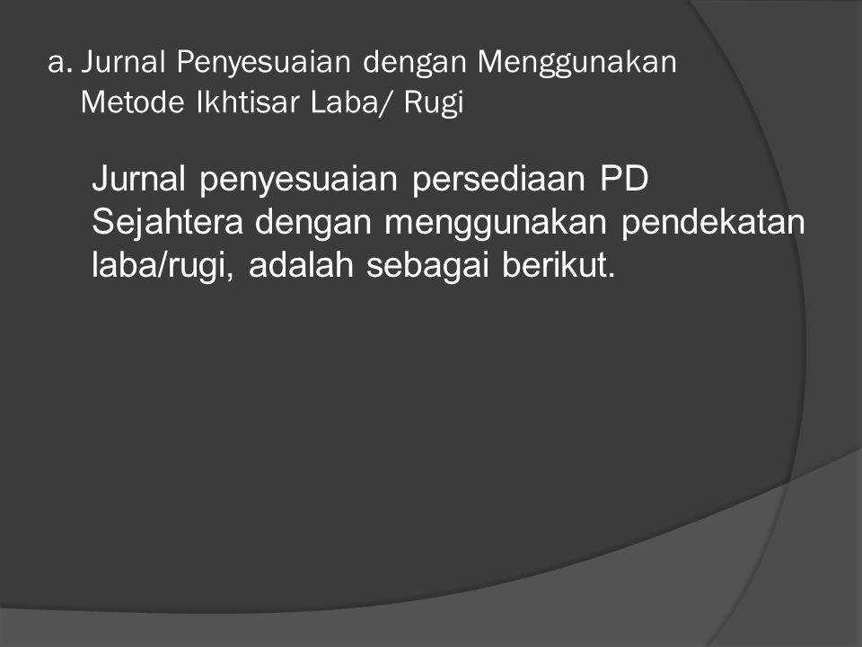Lanjutan a. Persediaan barang dagangan per 31 Desember 2005 sebesar Rp28.125.000,00. b. Gaji karyawan yang belum dibayar sebesar Rp1.800.000,00. c. As