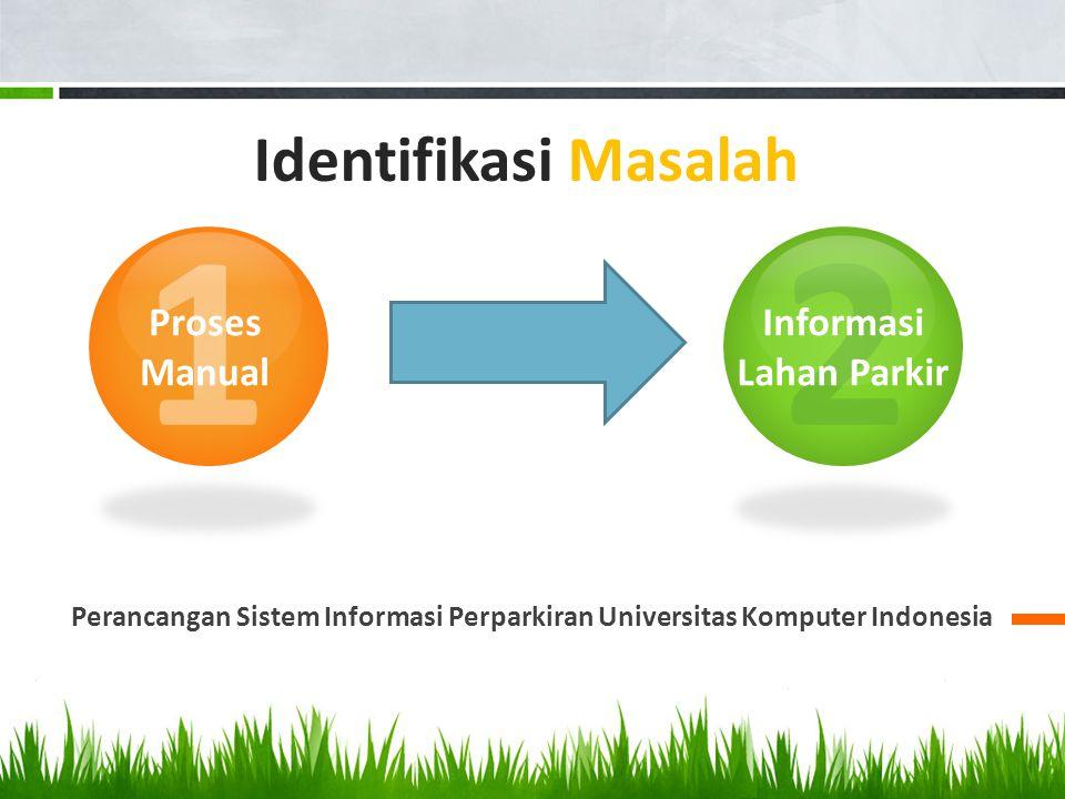 Perancangan Sistem Informasi Perparkiran Universitas Komputer Indonesia 1 2 Proses Manual Informasi Lahan Parkir Identifikasi Masalah