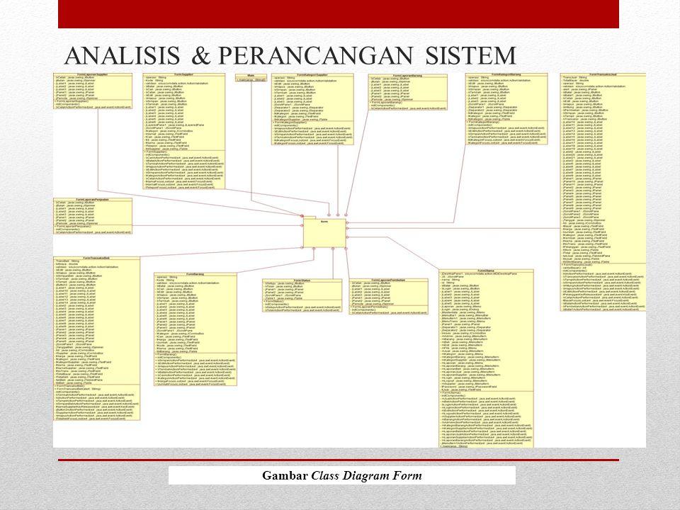 ANALISIS & PERANCANGAN SISTEM Gambar Class Diagram Form