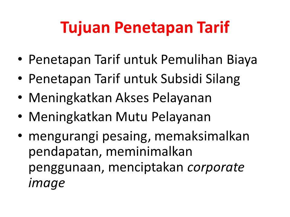 Tarif Rasional Pada tingkat mikro, hubungan antara biaya total, pendapatan total dan jumlah ouput (produk) dapat menentukan tarif rasional Tarif rasio
