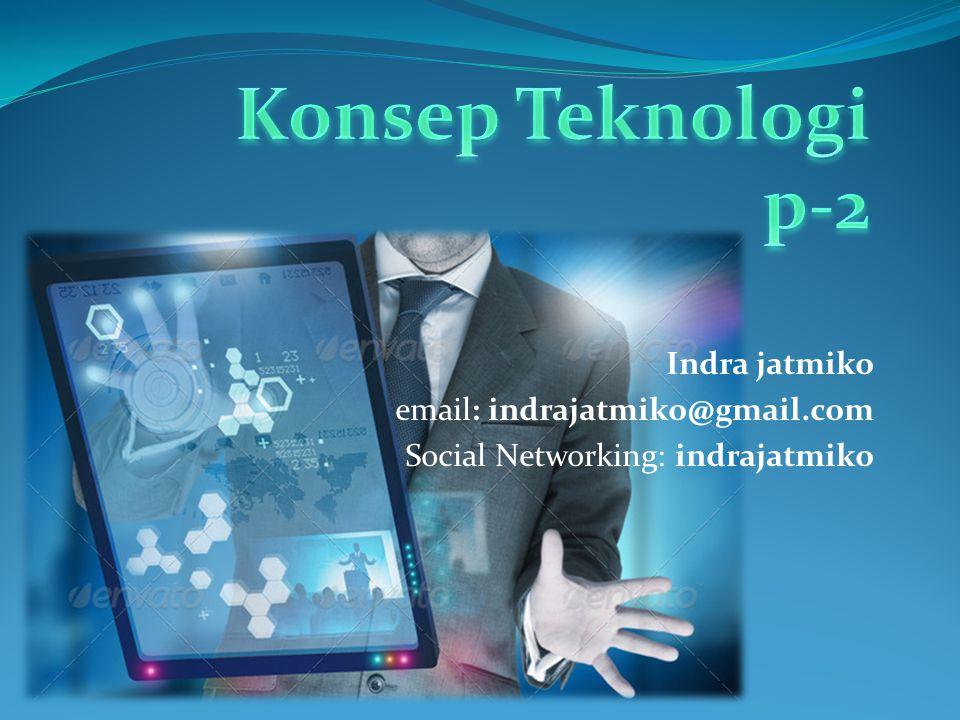 Indra jatmiko email: indrajatmiko@gmail.com Social Networking: indrajatmiko