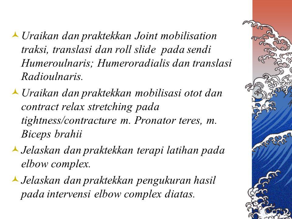 Golfer's elbow ROM normal, isometric wrist palmar flex Nyeri medial epicondyle Stretch test nyeri medial epicondyle Palpasi medal epicondyle nyeri Ultra soundTransverse friction Longitudinal muscle manipulation