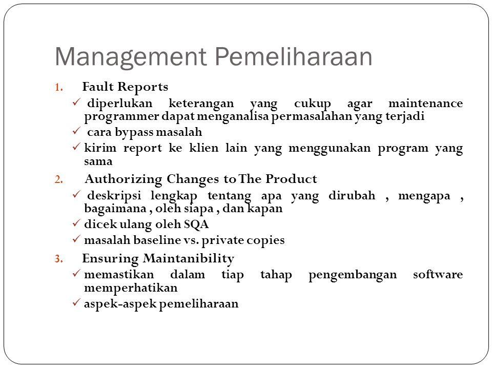 Management Pemeliharaan 1.