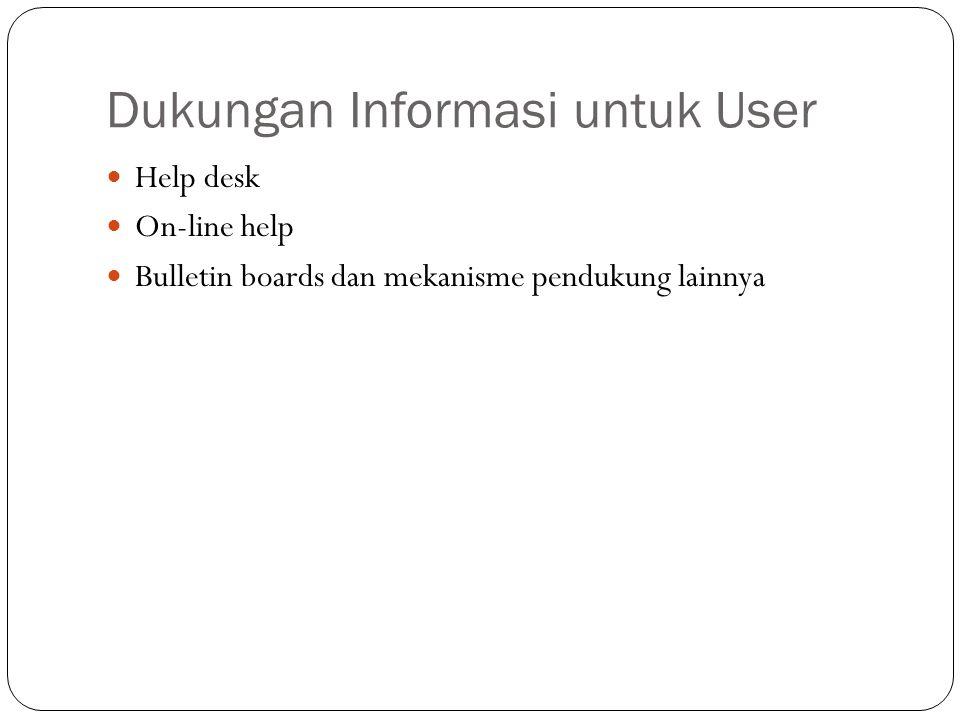 Dokumentasi Sistem  Jenis user documentation Yang melakukan perawatan sistem selama produksi (Teknisi: Administrator) User yang akan memakai sistem sesuai dengan kebutuhan sehari-hari.