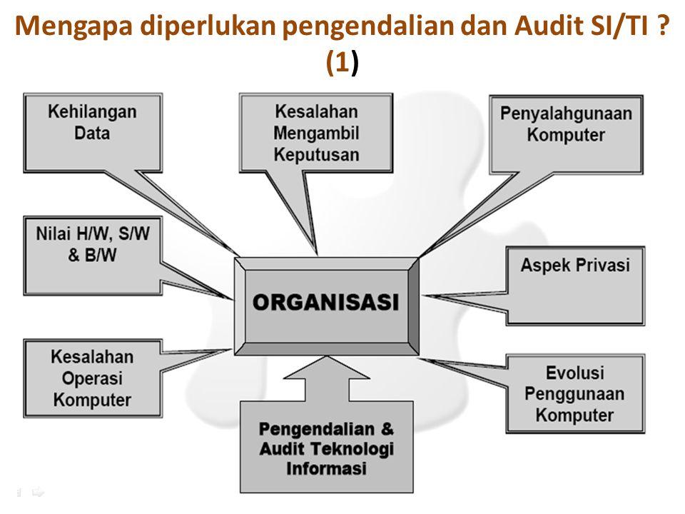 Mengapa diperlukan pengendalian dan Audit SI/TI (1)