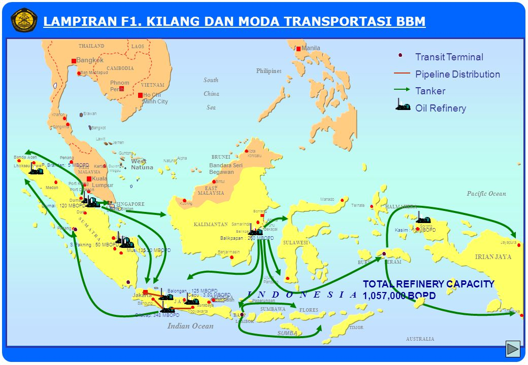 Grissik Palembang Semarang Pacific Ocean AUSTRALIA Indian Ocean Bangkok Phnom Penh Ban Mabtapud Ho Chi Minh City CAMBODIA VIETNAM THAILAND LAOS Khanon