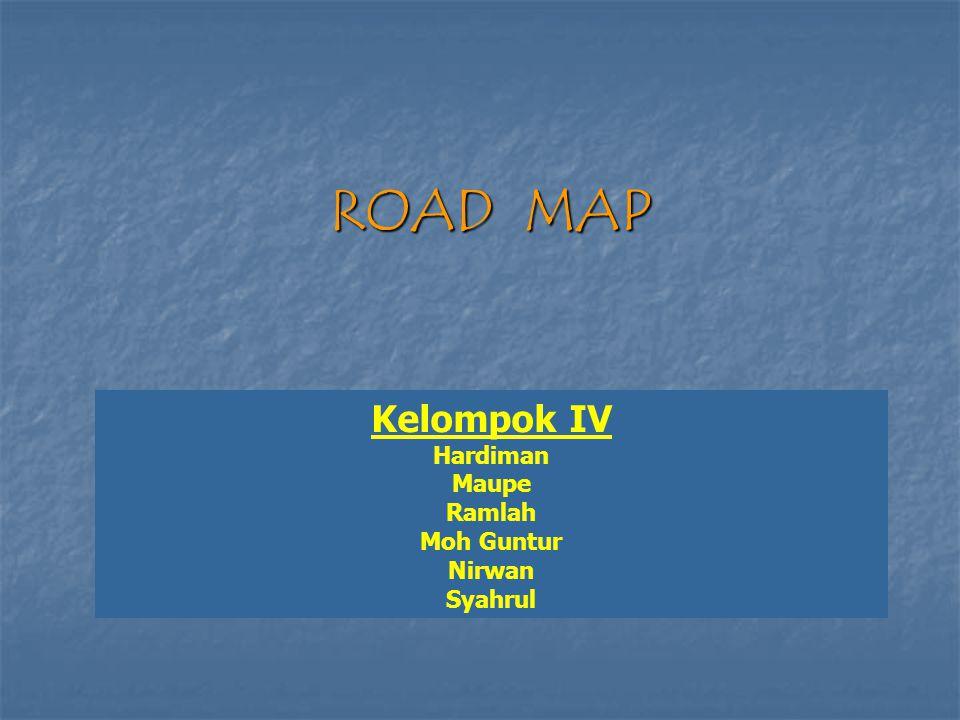 ROAD MAP Kelompok IV Hardiman Maupe Ramlah Moh Guntur Nirwan Syahrul