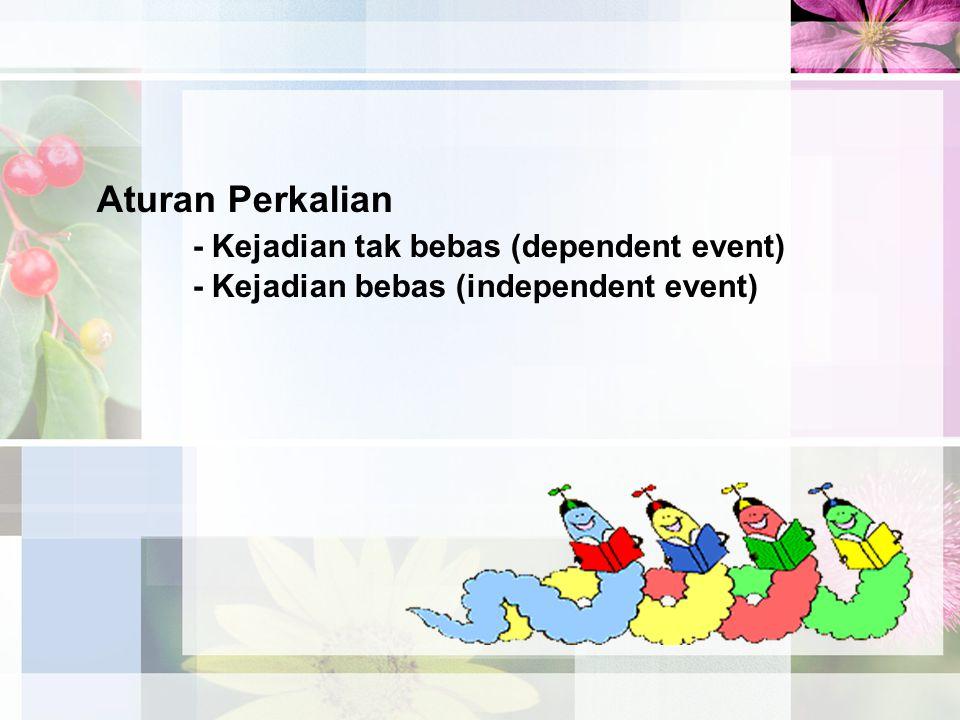 Aturan Perkalian - Kejadian tak bebas (dependent event) - Kejadian bebas (independent event)