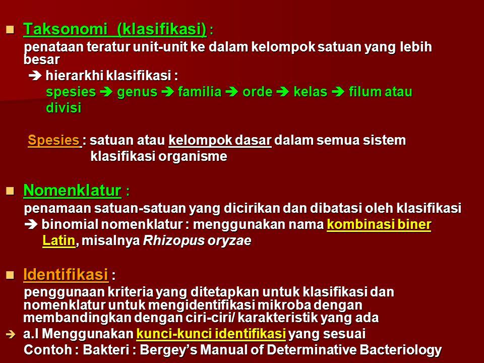Taksonomi (klasifikasi) : Taksonomi (klasifikasi) : penataan teratur unit-unit ke dalam kelompok satuan yang lebih besar penataan teratur unit-unit ke