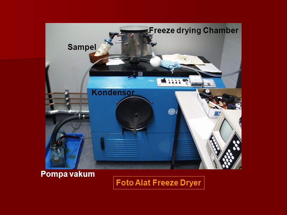 Foto Alat Freeze Dryer Freeze drying Chamber Pompa vakum Sampel Kondensor
