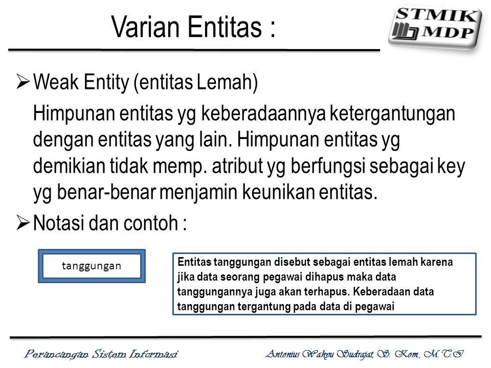 Perancangan Sistem Informasi Antonius Wahyu Sudrajat, S.