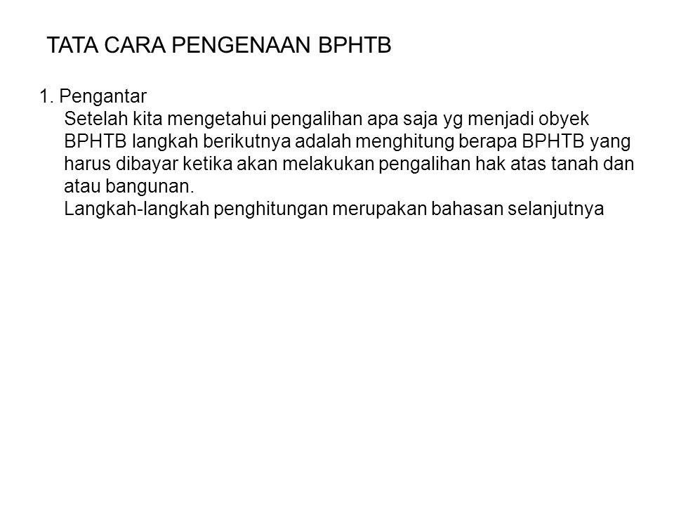 TATA CARA PENGENAAN BPHTB 1.