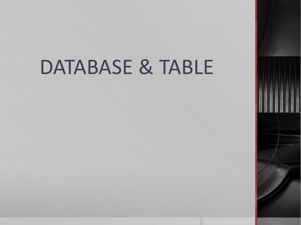  Tabel tersebut muncul dalam bentuk datasheet view.