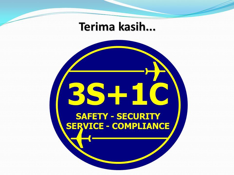 3S+1C SAFETY - SECURITY SERVICE - COMPLIANCE Terima kasih...