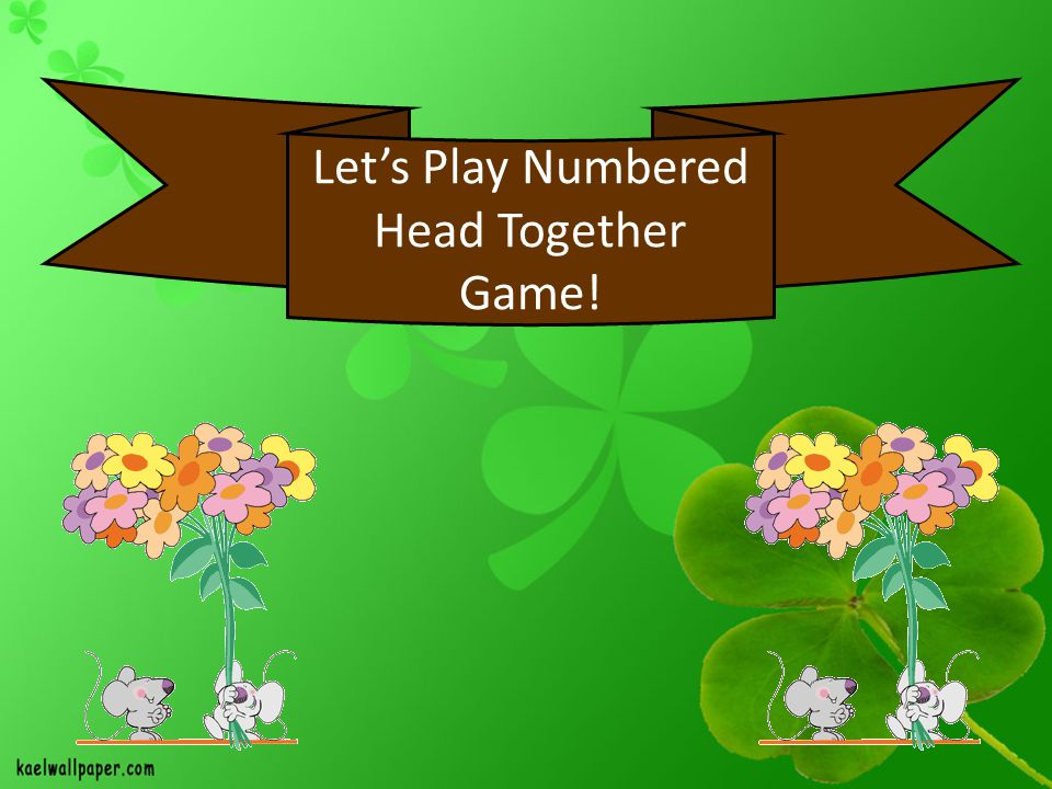 Let's Play Numbered Head Together Game!